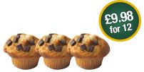 Muffins - £9.98 for 12