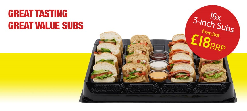 16 x 3-inch Subs from just &18 RRP